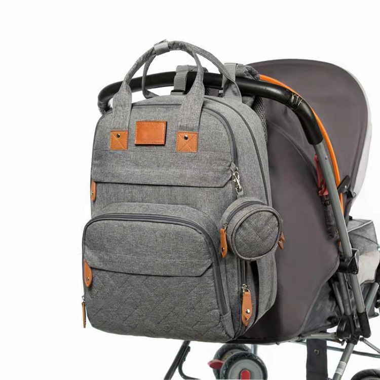 2021 Customized Waterproof Travel Mom Baby Diaper Bag Large Capacity Mummy Backpack Bags With Food Grade Pacifier Case