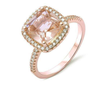 12;Rose Gold;square diamond ring