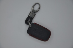 3 Buttons genuine leather Remote car key Holder Case Shell for hyundai