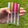 metallic silver lip tubes