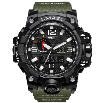 SMAEL 1545 Men Japan Digital Watch Analog Digital Luxury LED Display Rubber Sport Watches For Men