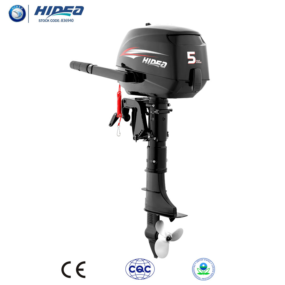 Hidea Ce Approved 4 Stroke 5hp Outboard Engine For Sale F5 Black