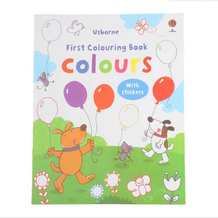 cheap coloring books child coloring book with cartoon stickers custom children cartoon sticker book printing can be customized