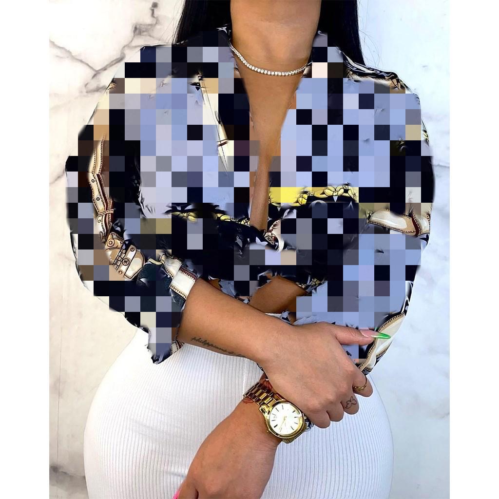 2021 spring women clothing Fashion Long Sleeves designer silk blouse