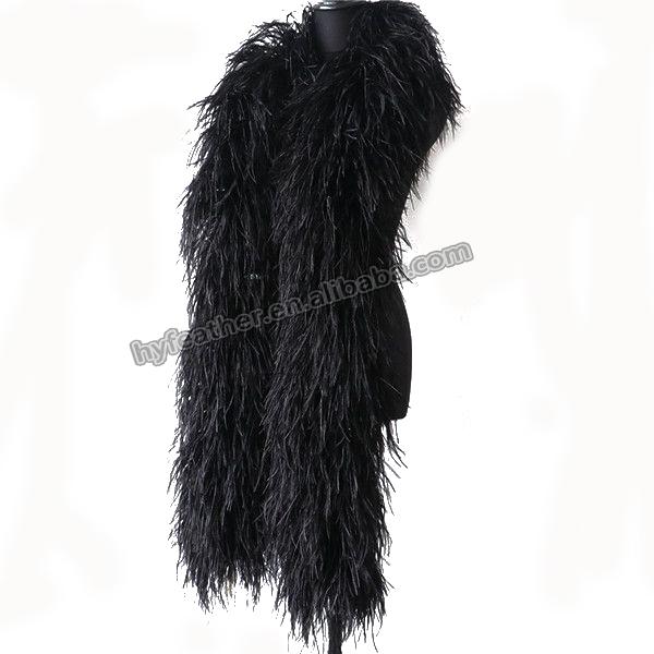 Лидер продаж, китайский поставщик, оптовая продажа, модные популярные 5-слойные дешевые перья боа, страусиных перьев, хорошие черные перья