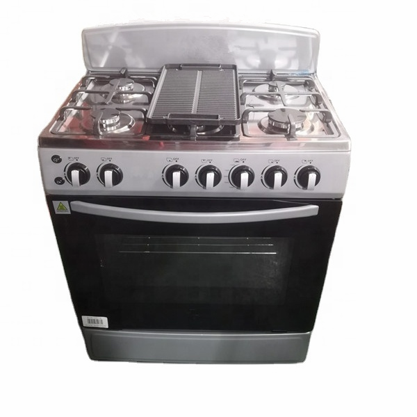 GENSUN 30 Inch Gas Range Free Standing Oven with Grill Six Burners Gas Stove Kitchen Family Baking Cooking Appliances