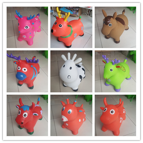 2019 Jumping Hopping Ride-on Bouncy Animal Inflatable Cow Kids Toy
