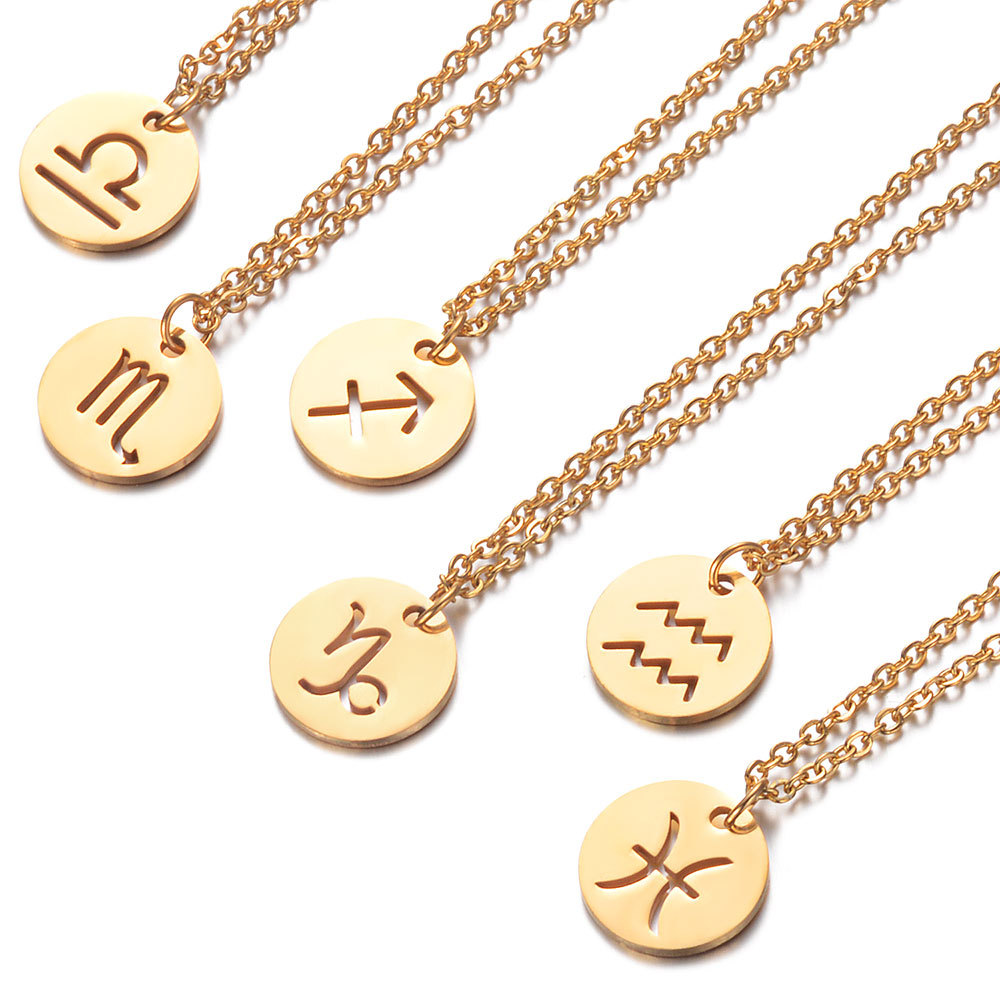 Zodiac Necklace Horoscope Necklace Zodiac Signs Jewelry