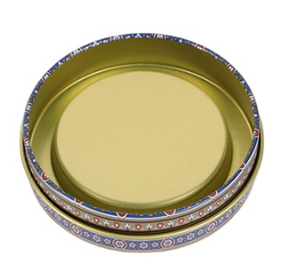 Custom Printed Round Food Metal Saffron Cookie Tin Box For Saffron
