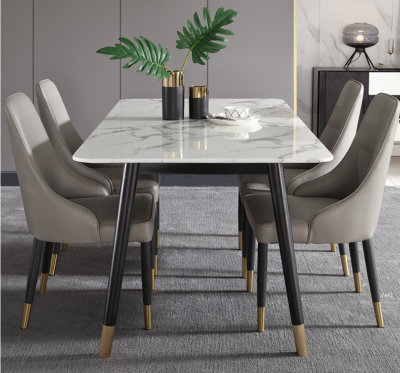 Nordic Marble Rectangular Modern Simple Dining Table Small Family Household Light Luxury Wood Dining Table Buy Marble Dining Table Set Luxury Wood Dining Table Coffee Table Marble Top Marble Inlay Dining Table
