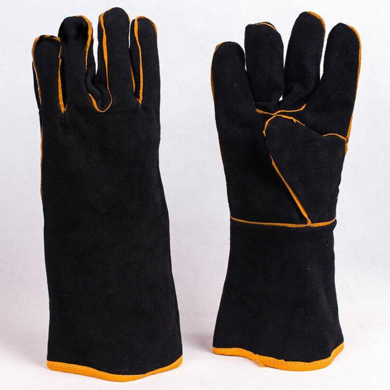 Сверхмощная деревянная горелка, сварочные термостойкие кожаные перчатки, перчатка для огнеупорной сварки