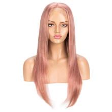 Rebecca Blonde, оранжевый парик с кружевом, прямой, 4x4, парик с закрытием, парик из человеческих волос с детскими волосами, предварительно выщипанны...(Китай)