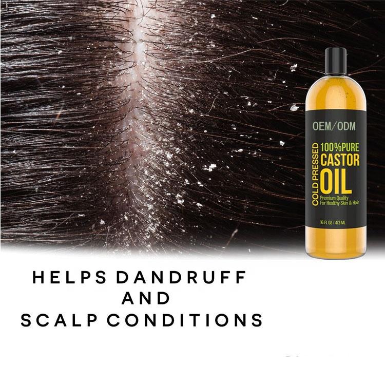 OEM 100% чистая фирменная марка, холоднопрессованное касторовое масло для роста волос, касторовое масло чисто