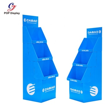 Custom Products Cardboard Display Box Carton, Stackable Cardboard Display Stand Template for Mockup, Cardboard Display Stand