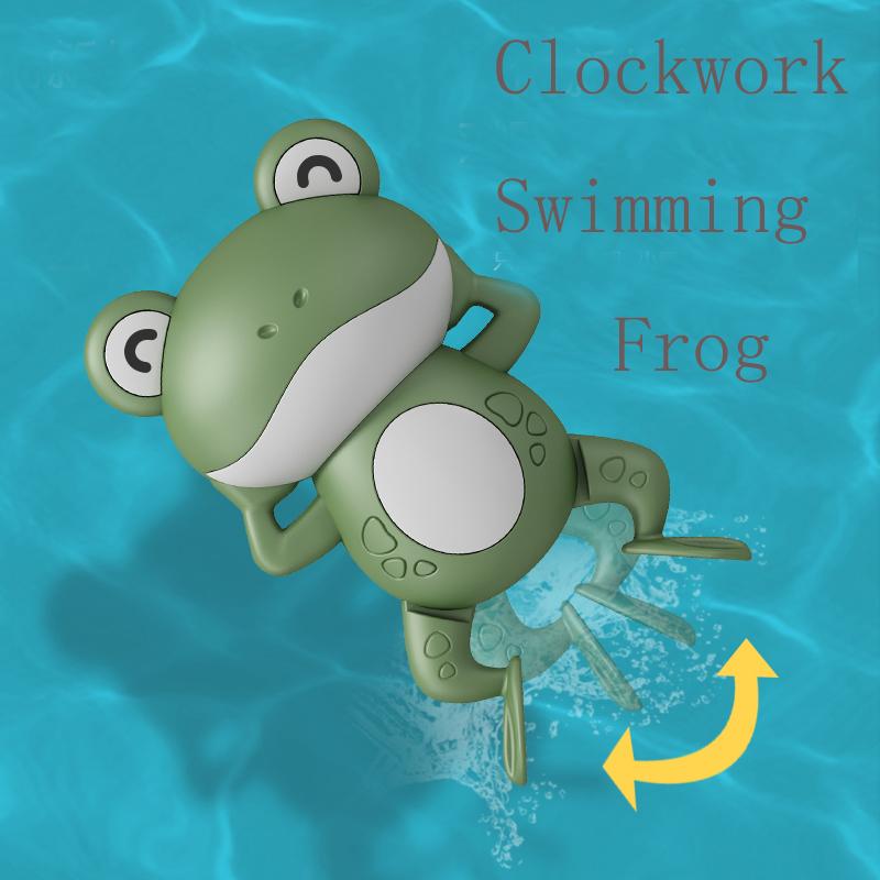Bathroom buoyancy sensing wind up toy baby bath swimming turtle