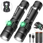 Flash Flashlight Flashlight Tactical 3 Modes Zoomable Skid-proof Aluminium 2000mah 10w T6 Waterproof Flash Light Usb Rechargeable Led Tactical Flashlight With Clip