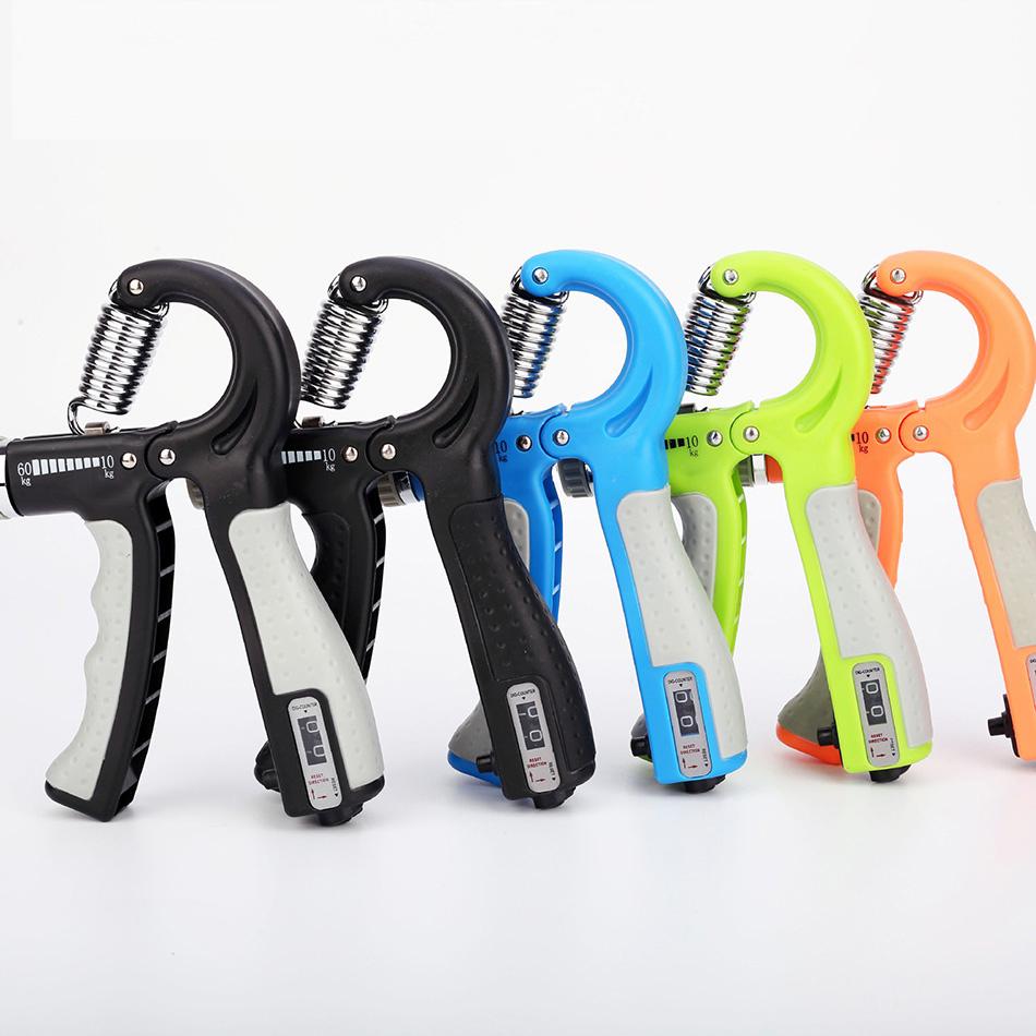 Эспандер для рук 10-60 кг, тренажер для тренажерного зала, фитнес-тренажер для рук, динамометр для пальцев, тяжелая сила для восстановления мышц, тренажер для рук