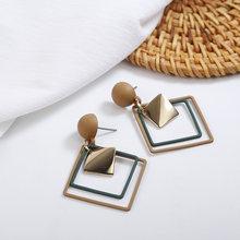 Женские серьги с натуральными камнями, модные корейские серьги ручной работы с белыми и черными камнями(Китай)