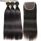 Hair Extension Rebecca Basic Straight Wave 8 To 28inches Remy Hair Bundles Raw Virgin Cuticle Aligned 100 Human Hair Human Hair Extension