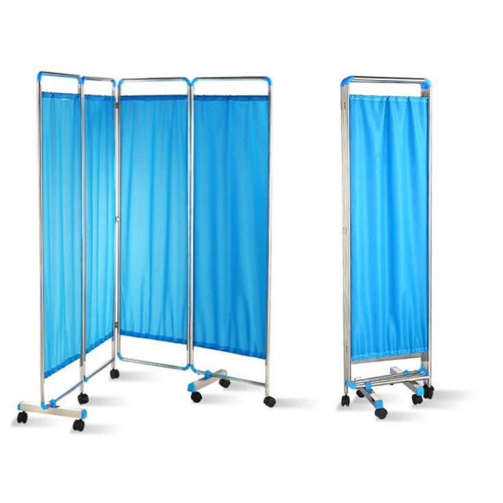 Cheap Stainless Steel Patient Hospital Ward 3 Panel Folding Screen
