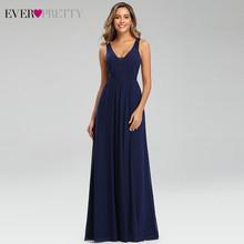 Элегантные темно-синие вечерние платья Ever Pretty EP07599NB, с двойным v-образным вырезом, без рукавов, драпированные, кружевные, вечерние платья, веч...(Китай)