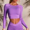 Purple-long sleeve tops
