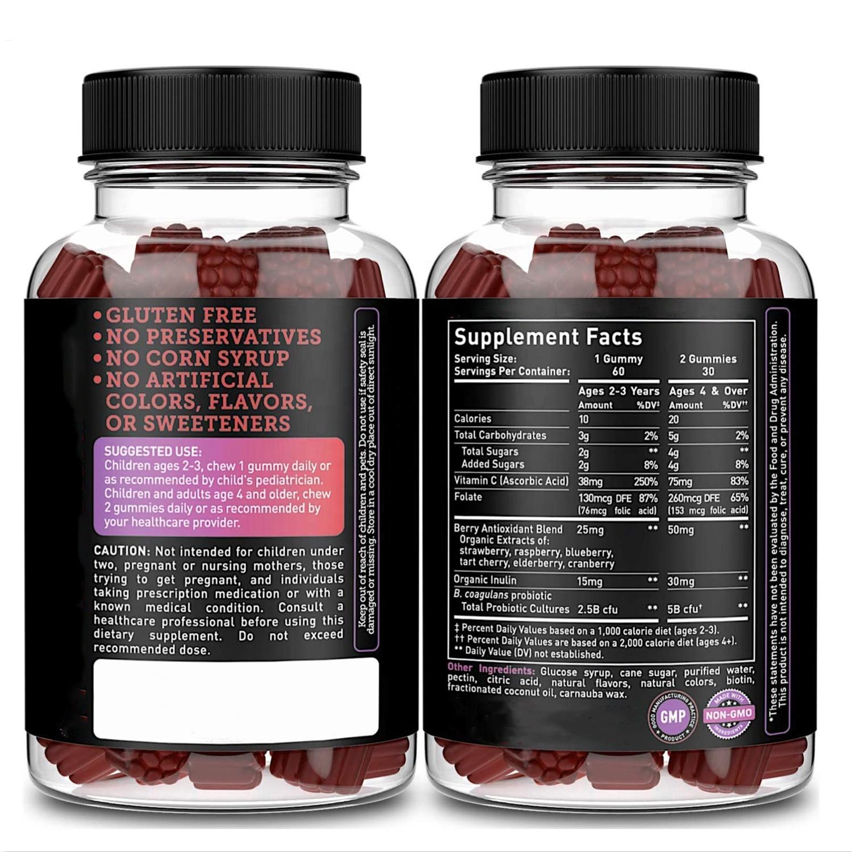 OEM/ODM пробиотические жевательные резинки для взрослых Иммунная поддержка и пищеварение жевательные пребиотики и пробиотики для женских жевательных резинок