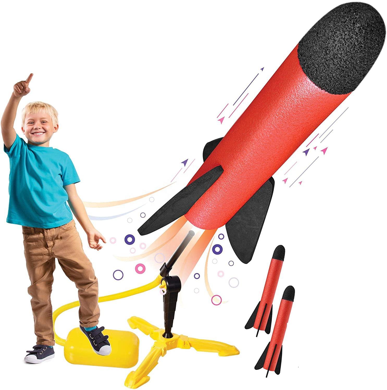 Hot Selling EVA Foam Rocket Launcher Rocket Toys For Child pedal model rocket