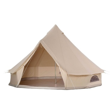 4m Canvas Bell Tent 100% Cotton Family Camping Canvas Wall Tents Military Canvas Tent of Different Sizes