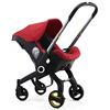 Red baby stroller/car seat