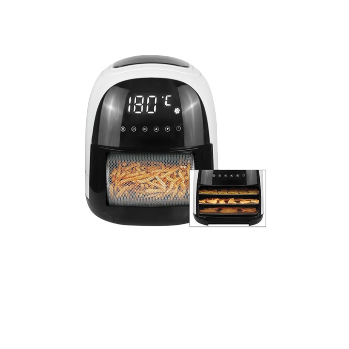 The fine quality healthy way for frying without oil djustable temperature LED display with touch screen air fryer