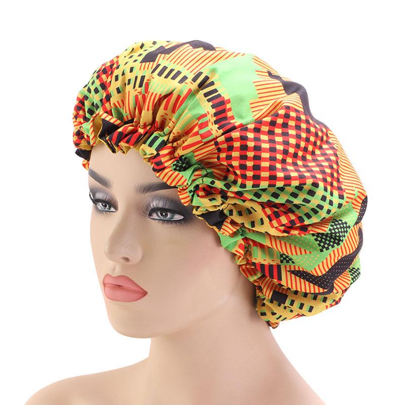 Африканская Высокая мода, капот kitenge, Африканский принт с атласной подкладкой, регулируемые африканские Чепчики из полиэстера