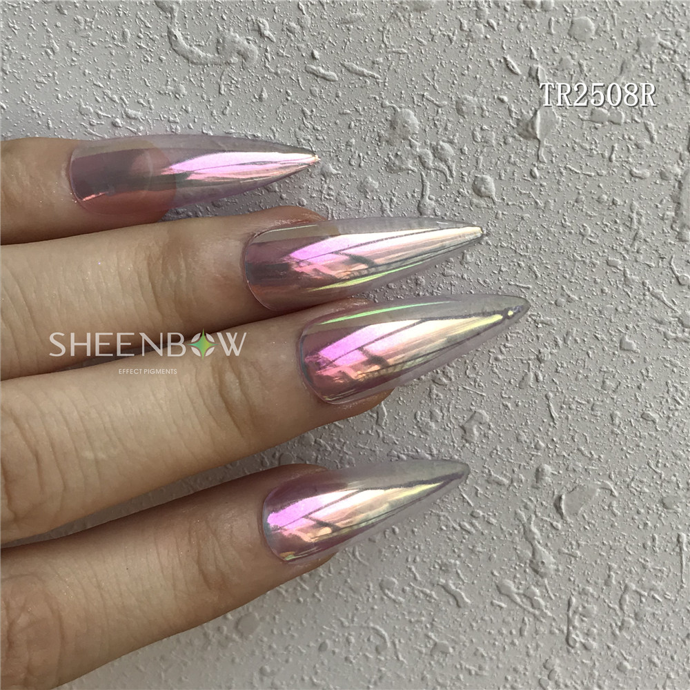 Sheenbow Newest Aurora Neon Pigment Mermaid Nail Glitter Powder Chrome Candy Aurora Pigment