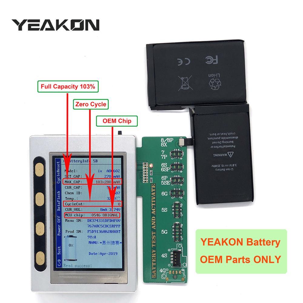 Новый литий-ионный полимерный аккумулятор YEAKON для сотового телефона с нулевым циклом работы, совместим с iPhone X, сменный аккумулятор