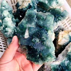 Оптовая продажа, Натуральный Необработанный кварцевый камень, минеральный образец, лечебный кластер из зеленого флюорита