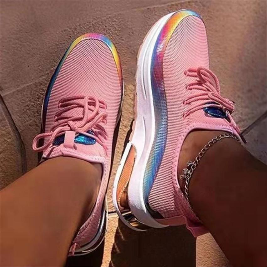 Ladies Shoes Casual Walking Shoes 2020 New Sneaker Women Flat Mesh