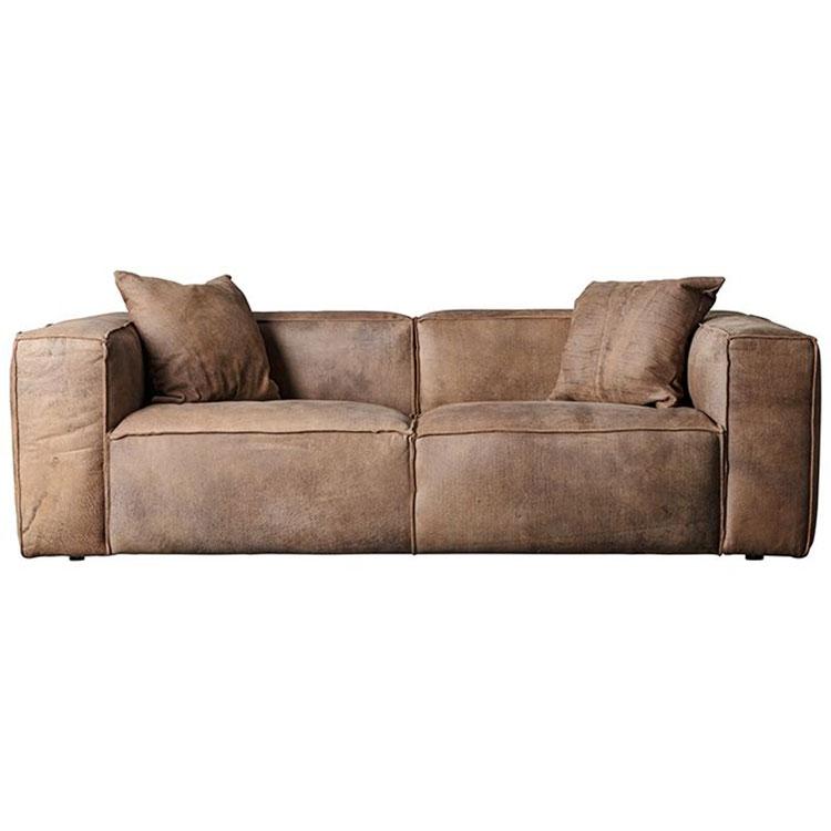 Nordic Italian light luxury cowhide leather simple combination sofa