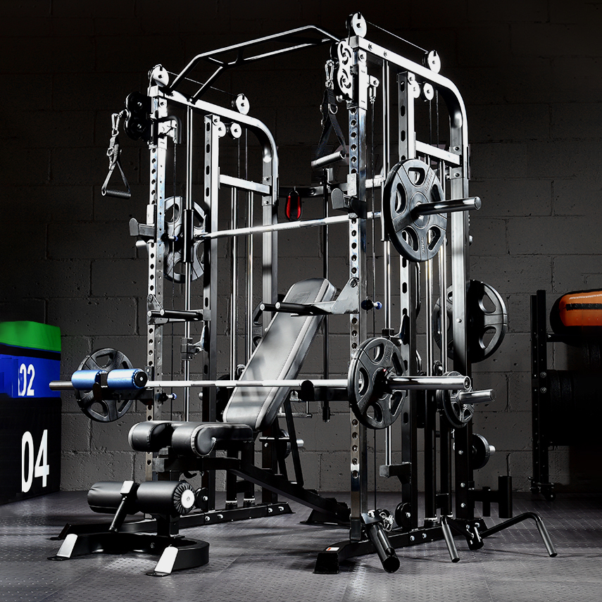 Commercial Gym Equipment Multi Functional Smith Machine Cable Crossover Trainer Power Rack gym smith machine equipment