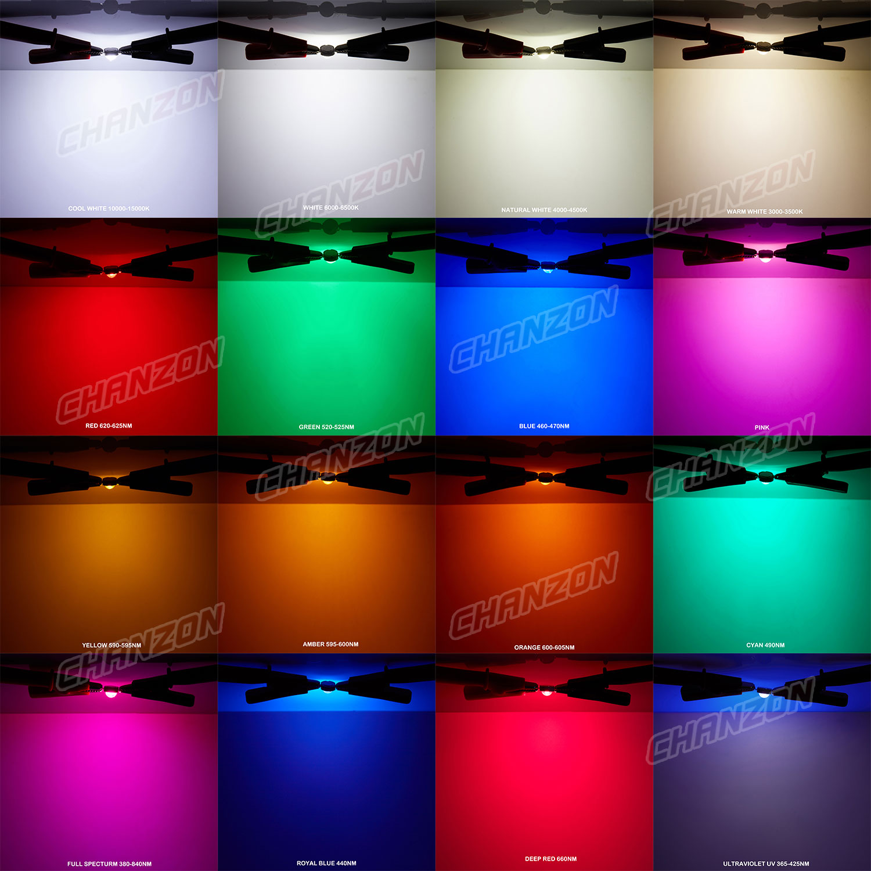 1W 3W 5W 10W 20W 30W 50W 100W 150W Warm White Red Green Blue RGB UV IR Infrared Grow Flood Light High Power COB LED Chip
