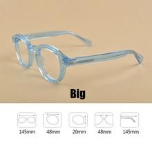 Очки для чтения Johnny Depp, очки для чтения в стиле ретро из ацетата с защитой UV400, дальнозоркостью 1,0, 1,5, 2,0, 2,5, 3,0, 3,5, 4,0(Китай)