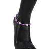 Purple-anklet