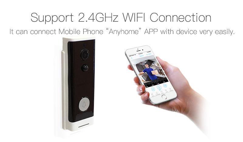 Visual Interfone Wireless Door Bell Camera Night Vision Waterproof Video Deurbel Campainha Sem Fio Wifi Intelligent Doorbell