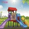 Colorido al aire libre patio de juegos de diapositivas de plástico