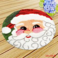 Рождественский комплект крючков для рукоделия, набор ковриков для самостоятельного изготовления, для рукоделия, подушки, Санта-Клаус, 3D выш...(Китай)