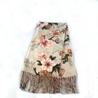 Top Scarf Top Quality Flower Printed Scarves Tassel Plain Shawl Square Head Scarf