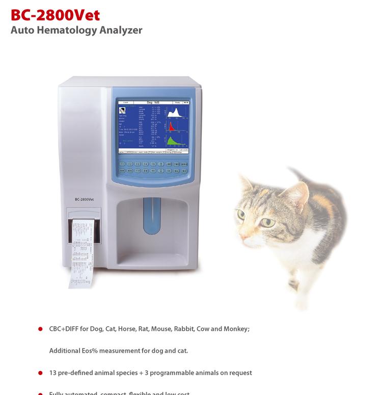 Mindray Fully Automatic Veterinary Hematology Analyzer BC-2800 Vet
