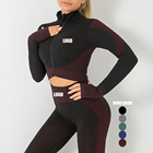 New Design Logo Service Sports Wear Set High Elastic Gym Sets Clothing Women