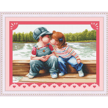Wholesale Female Needlework Sets Children Pattern Embroidery kits DIY Cross Stitch Kits