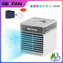 4-в-1 Вентилятор охлаждения охладитель воздуха 3 скорости кондиционер 7 светодиодов светильник охлаждения/увлажнения/очистки/ароматерапии(Китай)