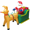 Inflatable Santa Claus on Sleigh Reindeer